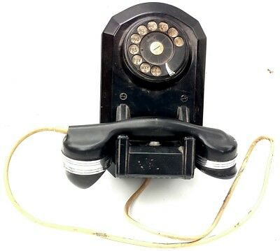 Vintage Automatic Electric Tombstone / Jukebox Rotary Wall Telephone, Monophone