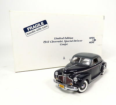New The Danbury Mint 1941 Chevy Special Deluxe Custom Rod Coupe 1:24 Car Model