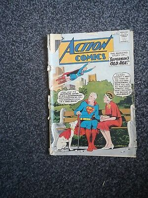 Action 270 Superman Dc Comics 1960 Silver Age