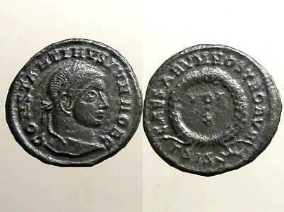CONSTANTINE II BRONZE AE3___Son of Constantine the Great___ VOT X WITHIN WREATH