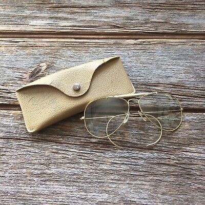 Vintage 1960s 1970s Bausch & Lomb Ray Ban Aviator Sunglasses
