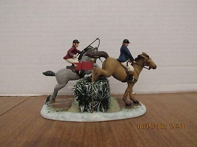 Dept 56 Dickens  2006 The Steeplechase 56.58468 Retired in 2007 Jumping  Horses