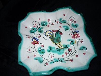 """Vintage Italian Ceramic Hand Painted Trinket Dish """" MADE IN ITALY"""""""