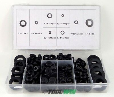 180 pc Rubber Grommet Assortment Set Electrical Firewall Wire Gasket Wiring Kit