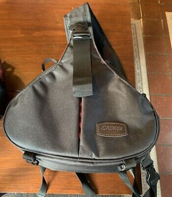 CADEN Nylon Triangle Camera Bag For Sony Nikon Camera Black EUC