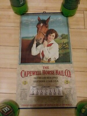 Vintage 1925 The Capewell Horse Nail Co. Calendar Complete