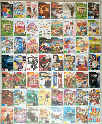 Nintendo Wii Games YOU CHOOSE Individual Sale - FREE POSTAGE