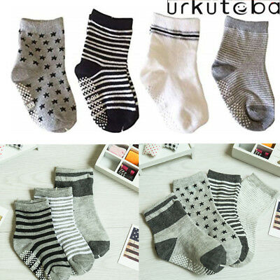 Boy Girl Crew Ankle Socks Lot Casual 0-12 2-3 4-6 6-8 Baby Toddler Kids 6 Pairs