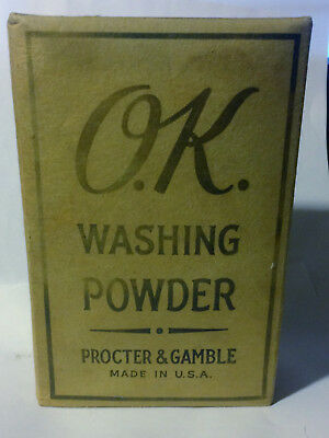 Rare Antique 1800's O.K. Washing Powder Proctor & Gamble Full Unopened Box