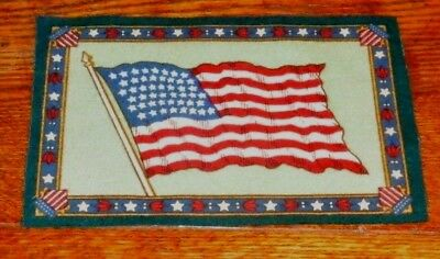 """Antique Cigarette Tobacco Felt Flag 5x8"""" - US 48 Star Flag From Early 1900s"""