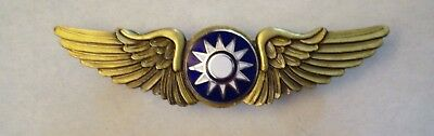 WWII Chinese Pilots Wings Flying Tigers AVG China National Air Force Named AAC #