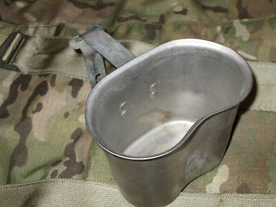 1.29# Authentic WWII WW2 Folding 1945 Foley M1910 Canteen Cup For Cover Pouch