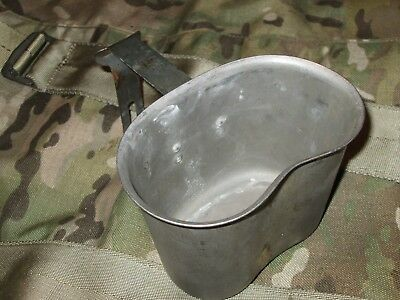 1.29# Authentic WWII WW2 Folding 1945 SM Co M1910 Canteen Cup For Cover Pouch