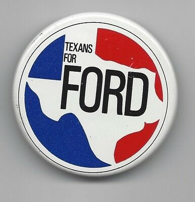 Gerald Ford 1976 Presidential political pin button Texans for Ford