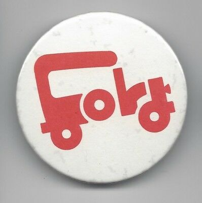 Gerald Ford 1976 Presidential political pin button automobile outline