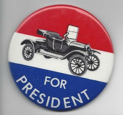 Gerald Ford 1976 Presidential political pin button Model T Ford
