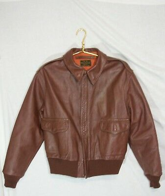 VTG WWII Type A-2 Rough Wear Army Air Force Horsehide Leather Jacket Small S