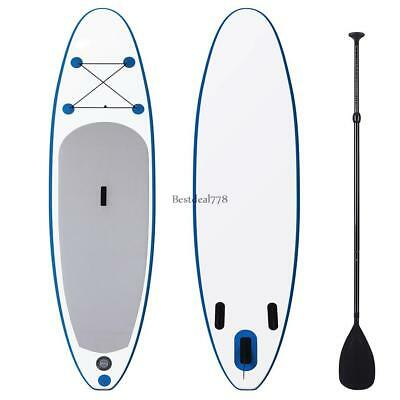 10' Inflatable Standup Paddle Board SUP w/ Fin Adjustable Backpack Pump