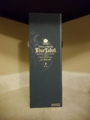 Johnny Johnnie Walker Blue Label Empty Box Case 750ml