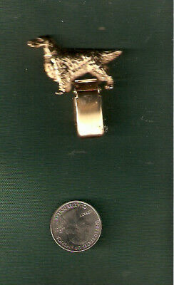 Irish or English Setter Gold Plated Ring Clip Pin Jewelry