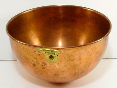 Vintage PAUL REVERE 1801 HEAVY COPPER Mixing Bowl Rolled Edges