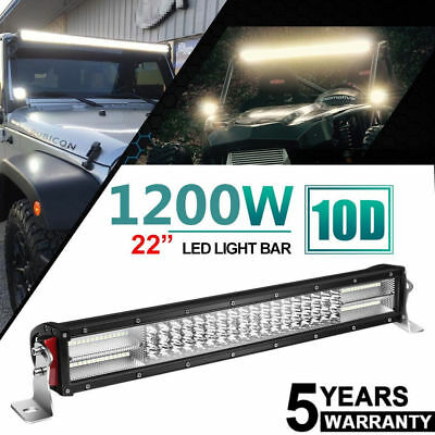 Philips 22inch 1200W LED WORK LIGHT BAR SPOT/FLOOD COMBO TRUCK OFFROAD FREE