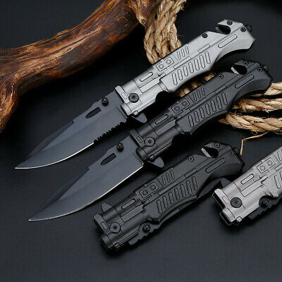 "8"" Pocket Tactical Folding Survival Military Knife Spring Assisted Blade Open"