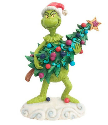 Jim Shore The Grinch Stealing A Christmas Tree Christmas Figurine 6002067 New