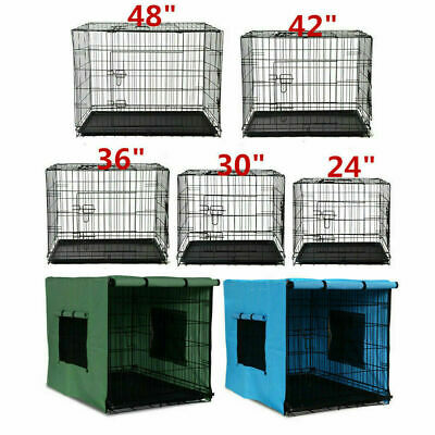 "24"" 30"" 36"" 42"" 48"" Pet Dog  Cage Collapsible Cover Crate Kennel Cat AU STOCK"