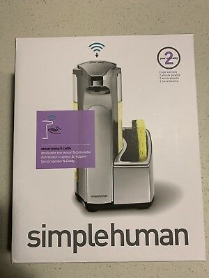 simplehuman 13-oz. Sensor Pump Soap Dispenser with Caddy, ST1031, Brushed Nickel