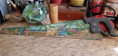 retro VW hand painted man cave vintage saw