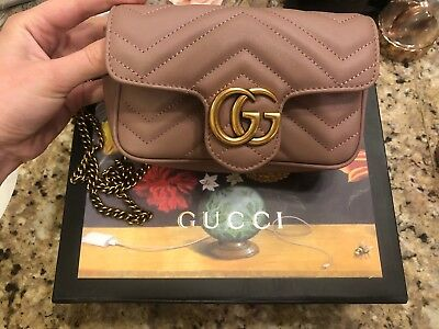 9a67c847650d GUCCI GG MARMONT Matelasse Leather Super Mini Bag -  480.00