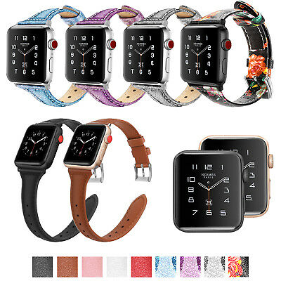 new styles 1b914 158f7 FINTIE LEATHER WRIST Band For Apple Watch Series 4/3/2/1 44mm 42mm 40mm 38mm