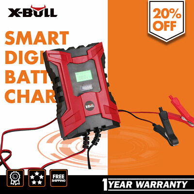 X-BULL Car Smart Battery Charger 6V/12V 6A Digital Automatic Maintainer