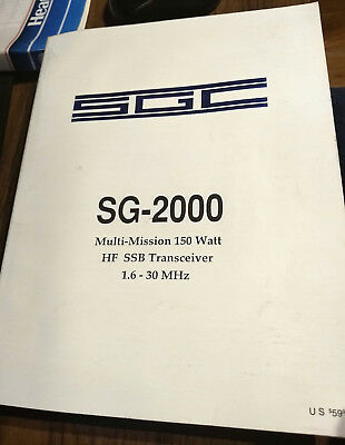 Original SGC SG-2000 HF SSB Transceiver Operation MANUAL
