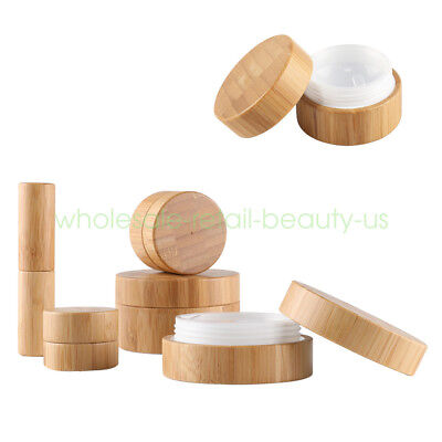 Wholesale Empty Natural Bamboo Lipstick tube Cosmetic Lip Balm Containers Jars