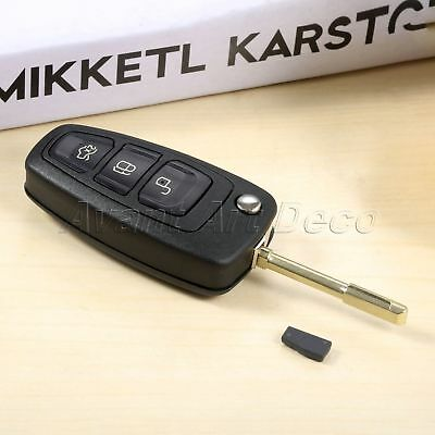 1Pc Remote Key 3 BTN 433MHz 315MHz Interchangeable Fit For Car Mondeo 2001-2007