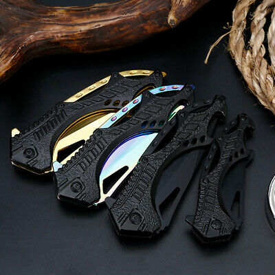 """8.5"""" 6.5"""" Pocket Tactical Folding Military Survival Knife Spring Assisted EDC WS"""