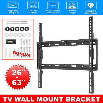 TV Bracket Wall Mount Slimline Tilting LCD LED 26 32 40 42 46 47 50 52 55 AU BZ