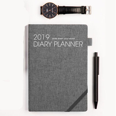 2019 Diary Planner Scheduler Business Notebook Journal Book 128 Sheets XMAS Gift