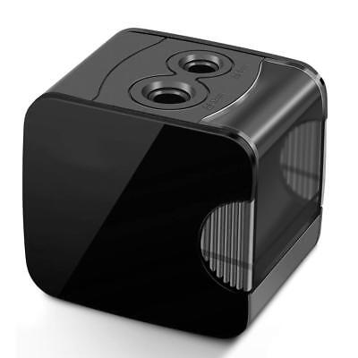 Electric Pencil Sharpener Best USB or Battery Operated Durable Classic Black