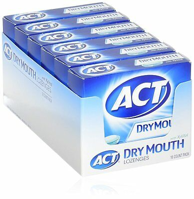 ACT Total Care, Dry Mouth Lozenges, 18 Count (Pack of 6), Soothing Mint...