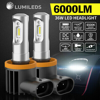 2x H11 12000LM LED CAR HEADLIGHT KIT HIGH LOW BEAM VEHICLE REPLACE HALOGEN XENON