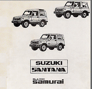 Manual de Taller de Suzuki Samurai SJ413 Santana (En CD) Workshop Reparation.