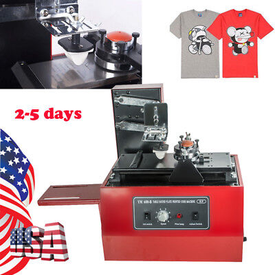 US Electric Pad Printer Printing Machine T-Shirt Oil Ink Print MUG Ball Pen Logo