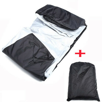 "100"" Bike Motorcycle Cover Waterproof Outdoor Rain Dust UV Scooter Protector XXL"