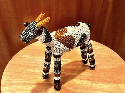 Artistic Monkeybiz Beaded Goat Animal Deer w/ Hearts from Cape Town South Africa