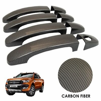 CARBON FIBRE Door Handle Covers for Ford Ranger T6 2016+