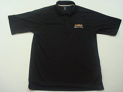 Dewar's Finest Scotch Whisky Extreme eDry Polo Golf Shirt Size L Mens Blue T90