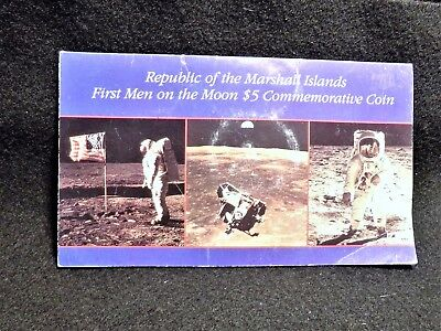 Marshall Islands $5 Commemorative Coin First Men On The Moon